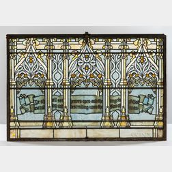 Tiffany Glass & Decorating Company Stained Glass Window Panel