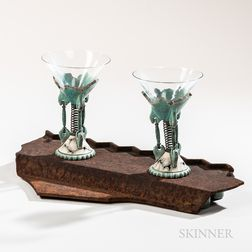 Eric Van Eimeren Martini Set with Stand   Sculpture