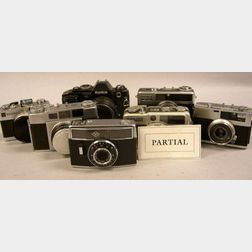 Large Lot of 35mm Japanese Black and Chrome Cameras