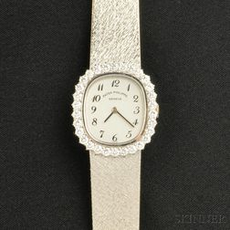 Lady's 18kt White Gold and Diamond Wristwatch, Patek Philippe