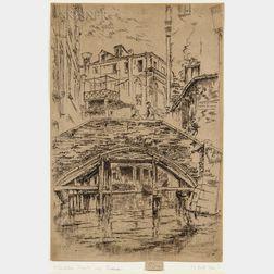 James Abbott McNeill Whistler (American, 1834-1903)      Ponte del Piovan