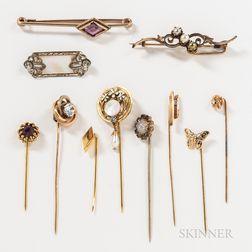 Group of Vintage Pins