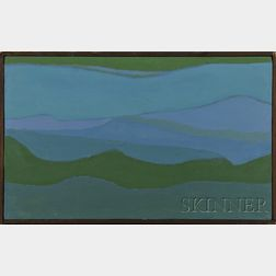 Reba Stewart  (American, 1930-1971)      San Juan Landscape.