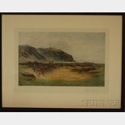 Five Framed Hand-colored Reproduction Sporting Prints