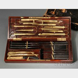 Henry J. Bigelow Gold-plated Presentation Surgical Set