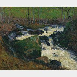 Gustave Loiseau (French, 1865-1935)      Rivière sous Bois, la rivière de Mortain