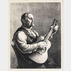 Thomas Hart Benton (American, 1889-1975)      The Hymn Singer