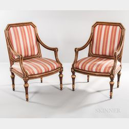 Pair of Louis XVI-style Fauteuil