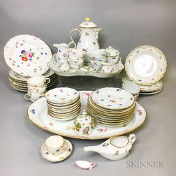 Approximately 100 Pieces of Meissen Floral-decorated Porcelain Tableware.     Estimate $800-1,200