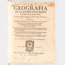 Ptolemy, Claudius (c. 100-170 AD) and Girolamo Ruscelli (1518-1566) La Geografia.