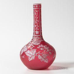 Thomas Webb & Sons Cameo Art Glass Vase