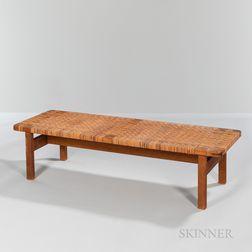 Borge Mogensen (Danish, 1914-1972) Woven Reed Coffee Table