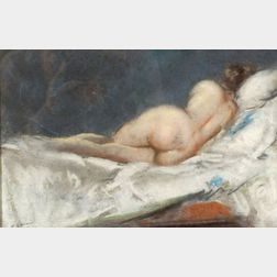 Everett Shinn (American, 1876-1953)    Reclining Nude