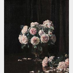 Carl Hampel (Australian, c. 1887-1942)      The Maiden's Blush Rose