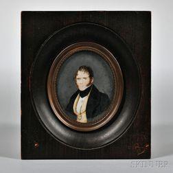 Miniature Portrait on Ivory of John Wright
