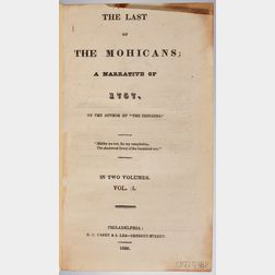 Cooper, James Fenimore (1789-1851) The Last of the Mohicans; a Narrative of 1757.