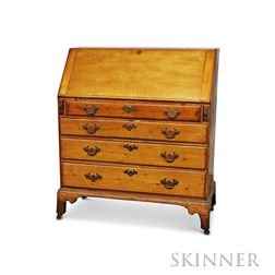 Queen Anne Maple Slant-lid Desk