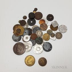 Small Group of Coins and Tokens