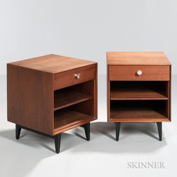 Two George Nelson (1908-1986) Thin Edge Nightstands