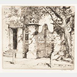 Alfred Heber Hutty (American, 1877-1954)      Smyth Gate, Charleston