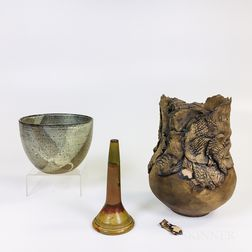 Three Studio Pottery Items