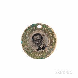 Abraham Lincoln/Hannibal Hamlin Ferrotype Campaign Token