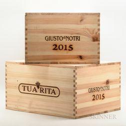 Tua Rita Giusto di Notri 2015, 12 bottles (2 x owc)