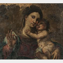 Venetian School, 17th Century Style      Madonna and Child with Rosary
