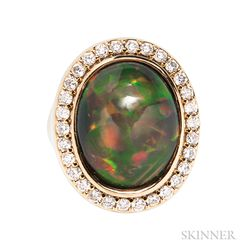 18kt Gold and Opal Ring
