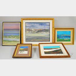John Mulcahy (American, b. 1931)      Five Ocean Views, Mostly Cape Cod, Massachusetts