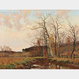 William Merritt Post (American, 1856-1935)      Connecticut Hills