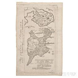 Boston. John Norman (d. 1817) Plan of the Town of Boston, with the Attack on Bunkers-Hill, in the Peninsula of Charlestown, the 17th of