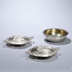 Three Pieces of Continental Silver-gilt Hollowware