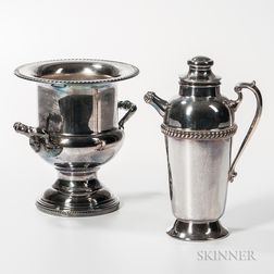 Two Pieces of Silver-plated Drinkware
