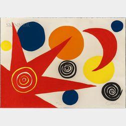 Alexander Calder (American, 1898-1976)      Untitled (Sun and Moon)
