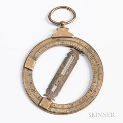 4-inch Brass Universal Equinoctial Ring Dial