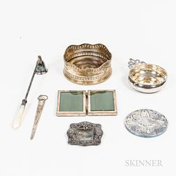 Group of Sterling Silver Decorative Tableware
