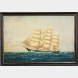Anglo/American School, 19th Century    Portrait of a Ship.