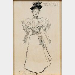 Charles Dana Gibson (American, 1867-1944)      Gibson Girl