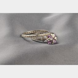 Platinum, Amethyst, and Diamond Ring, Cathy Waterman