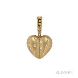 18kt Gold and Diamond Pendant, Judith Ripka