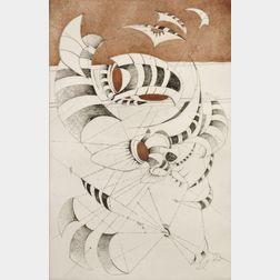 Lee Bontecou (American, b. 1931)      Untitled
