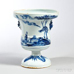 Tin-glazed Earthenware Flowerpot