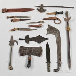 Eleven Mostly Asian Knives and Bladed Weapons