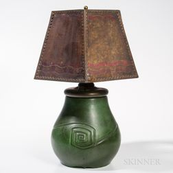 Hampshire Pottery Table Lamp with Mica Shade