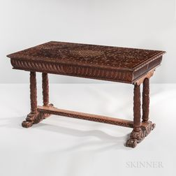 Northern Italian Inlaid Center Table
