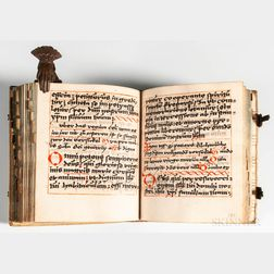 Manuscript Latin Song and Prayer Book on Paper, Early 16th Century, Likely German.