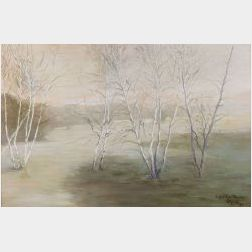 Elizabeth Wentworth Roberts (American, 1871-1927)  Winter View, Concord, Massachusetts