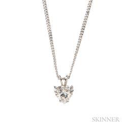 14kt White Gold and Diamond Pendant