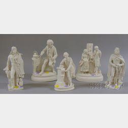Five Parian Figural Groups